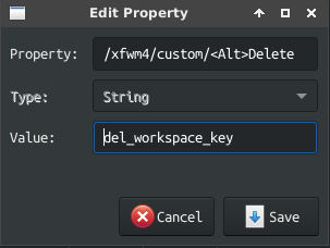 xfwm4 shortcut creation example